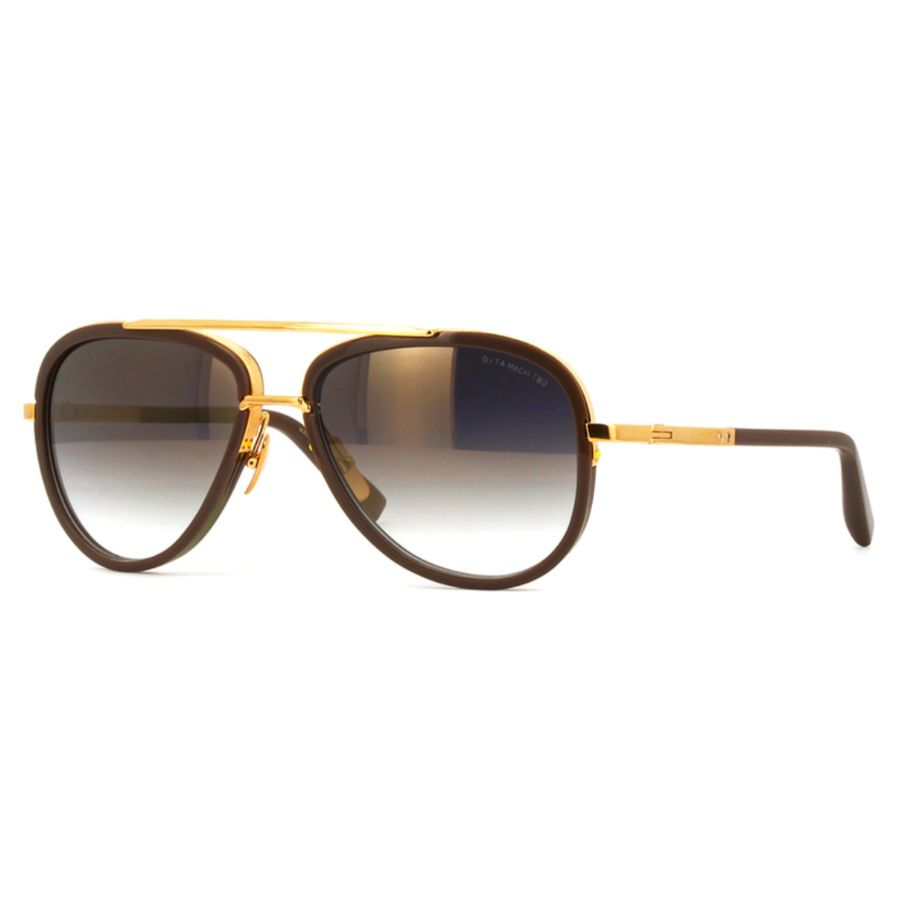 Lunettes de soleil DITA - MACH TWO - Black & 18K Gold-Daily Steals