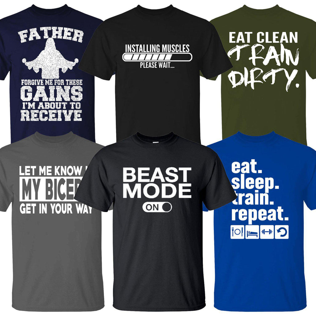 Men's 100% Cotton Funny Gym Workout T-Shirt-Daily Steals