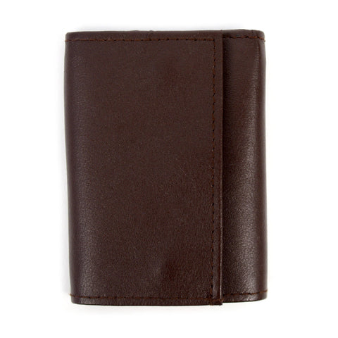 Daily Steals-Genuine Leather Key Case Tri-Fold Wallet-Accessories-Brown-