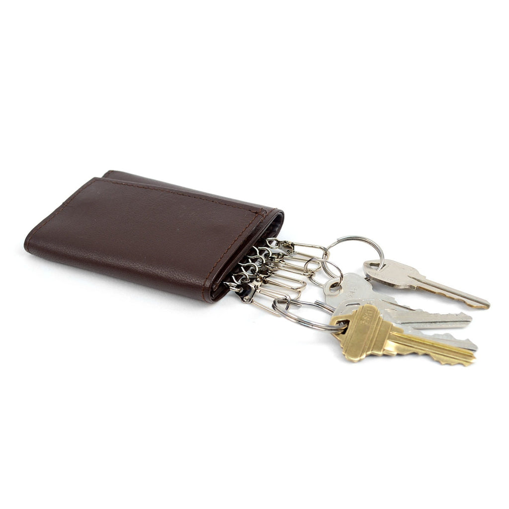 Daily Steals-Genuine Leather Key Case Tri-Fold Wallet-Accessories-Black-