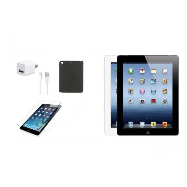 iPad 3 32GB Bundle (Case, Charger, Tempered Glass) - Black or White-Daily Steals
