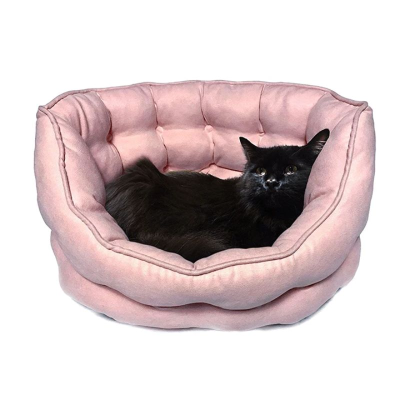 Duke and Darling Pink Quilted Plush Pet Bed-Daily Steals