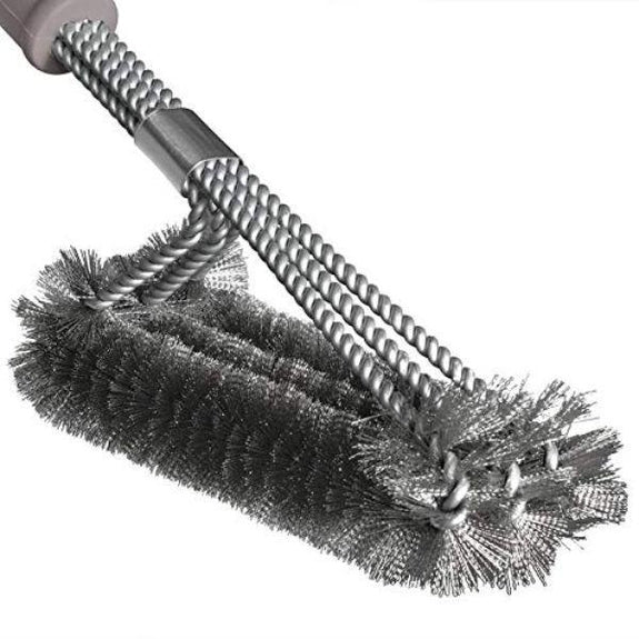 Daily Steals-Durable BBQ/Grill Brush with Triple Stainless Steel Brush Head Bristles-Outdoors and Tactical-
