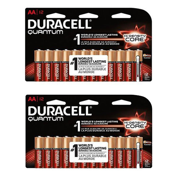 [24-Pack] Duracell Quantum Alkaline AA Battery with PowerCheck Technology-Daily Steals