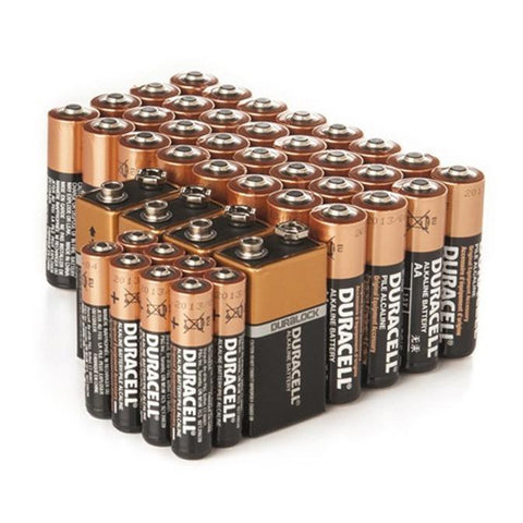 Daily Steals-Duracell AA/AAA/9V CopperTop Alkaline Batteries - 44 Pack-Batteries-