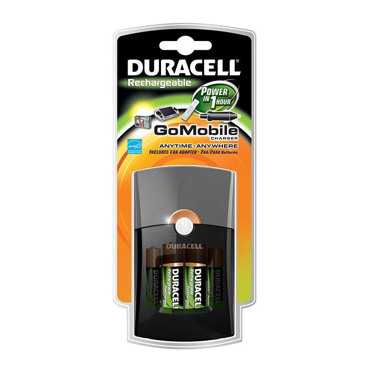 Daily Steals-Duracell Go Mobile Charger with Car Adapter and 2 AA / 2 AAA Rechargeable Batteries-Batteries-