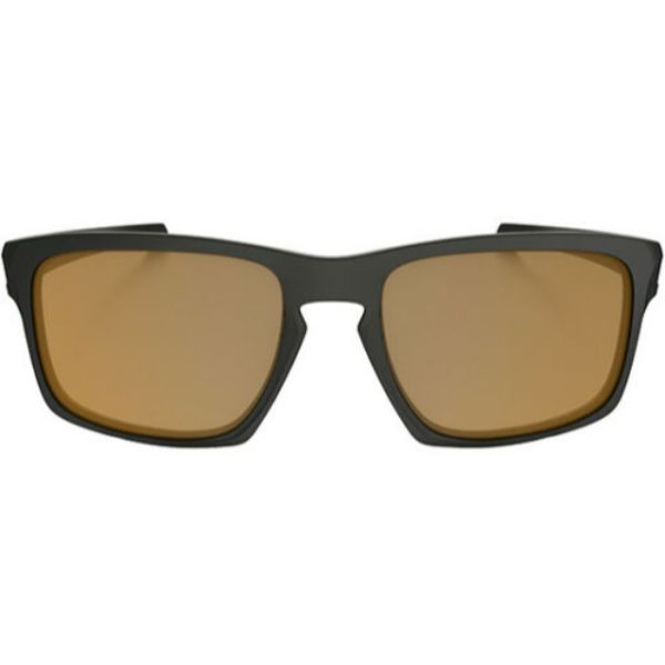 Oakley Men's Sliver Polarized Rectangular Sunglasses with Bronze Flash