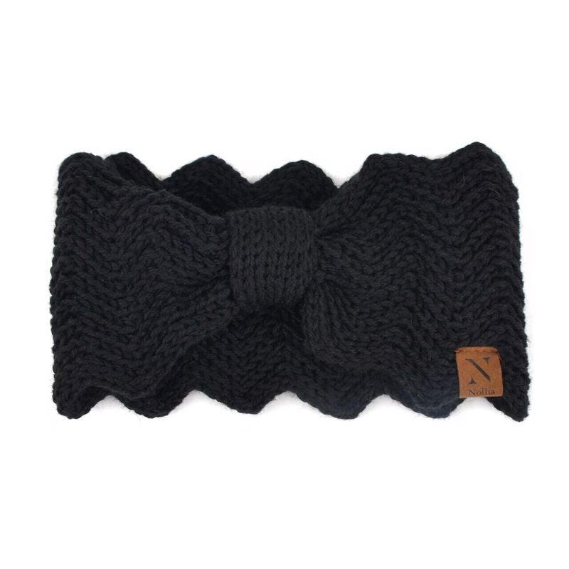 Nollia Women's Knotted Knit Winter Head Band-Black-Daily Steals