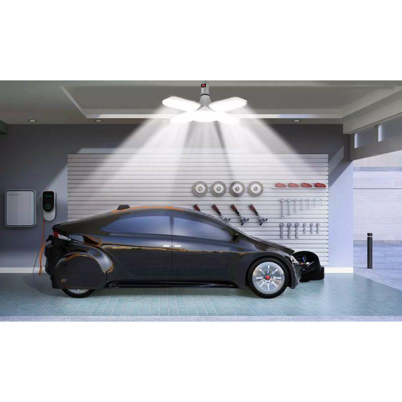 E27/B22 60W 5400LM 6500K Deformable LED Garage Lights-