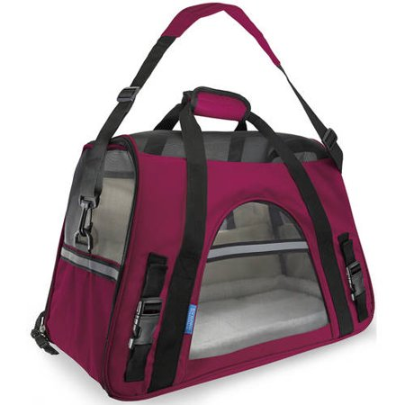 OxGord Soft Sided Cat/Dog Pet Carrier - FAA Airline Approved-Hot Pink-Small-Daily Steals