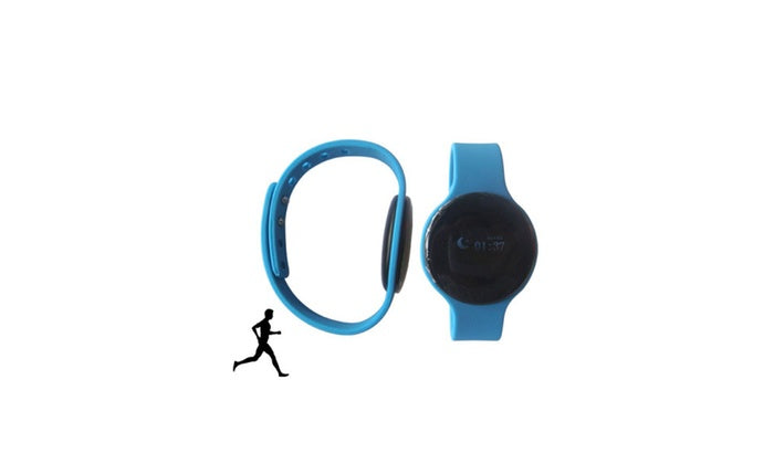 Digital Fitness Watch W/ Silcone Strap-Blue-Daily Steals