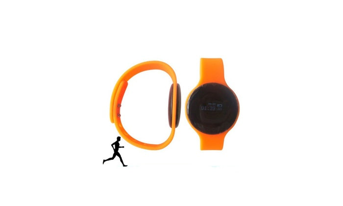 Digital Fitness Watch W/ Silcone Strap-Orange-Daily Steals