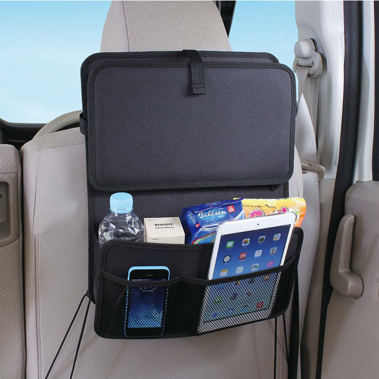 Daily Steals Backseat Car Organizer With Food Tray Accessories