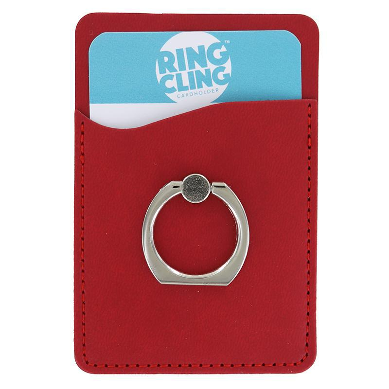 [2-Pack] Ring Cling Cardholder-Red-Daily Steals