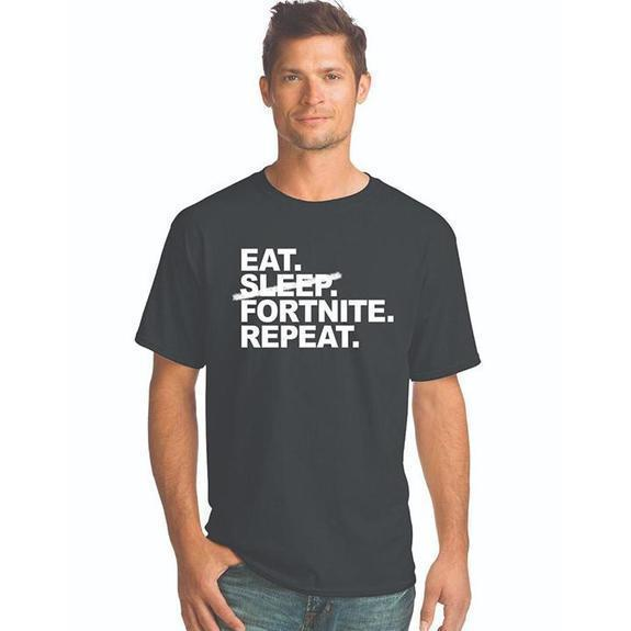 Daily Steals-Eat. Sleep. Fortnite. Repeat. T-Shirt-Men's Apparel-Black-S-