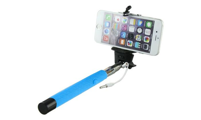 Iplanet Bluetooth Selfie Stick-Blue - Bluetooth-Daily Steals