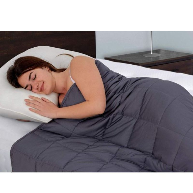 100% Cotton Weighted Blanket - 15 LB-Daily Steals