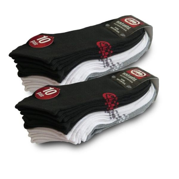 Ecko Men's Basic Quick Dry No Show Athletic Socks - 30 Pairs-Daily Steals