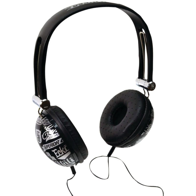 Marc Ecko Unlimited Impact Stereo Headphones w/Mic, Black-Daily Steals