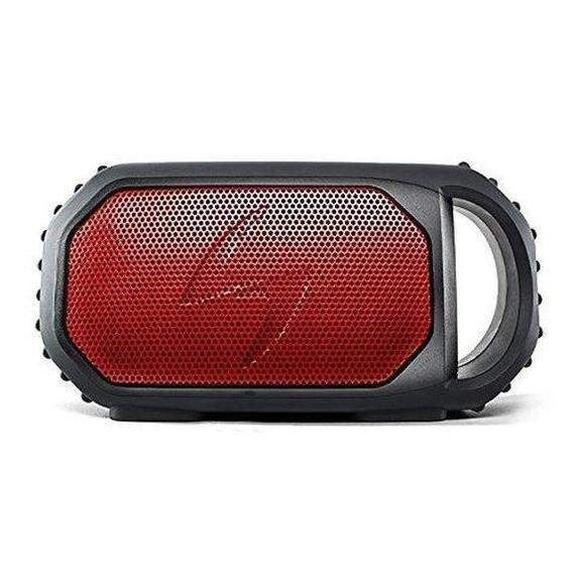 Daily Steals-ECOXGEAR EcoStone Rugged Waterproof Bluetooth Speaker with Built-In Backup Battery & USB Charging Port - 3 Colors-Waterproof Bluetooth Speaker-Red-