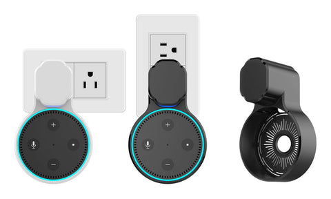 Daily Steals-Universal Outlet Wall Mount Hanger Clip for Echo Dot 2nd Generation-Home and Office Essentials-White-