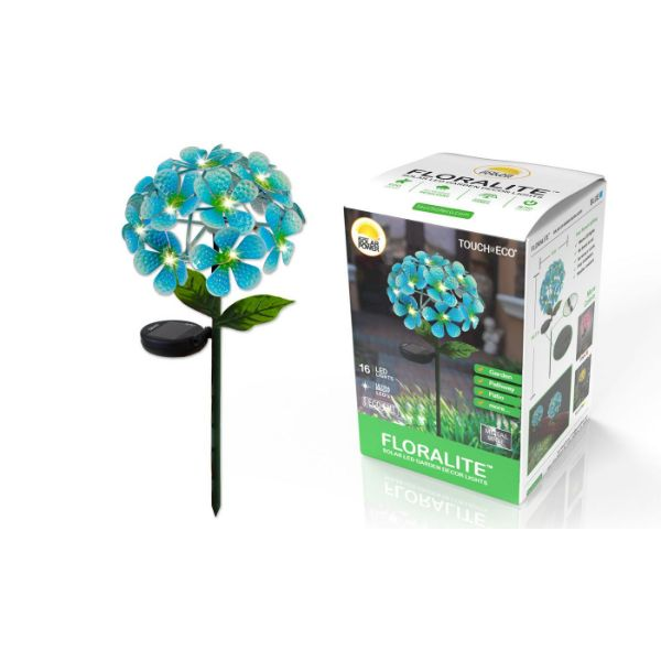 Solar LED Metal Flower Stake Lights - 1, 2, or 3 Pack-Blue-1-Pack-Daily Steals
