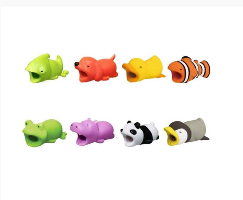 Daily Steals-Assorted Animal Cable Protectors 8-Pack-Computer and Laptop Accessories-