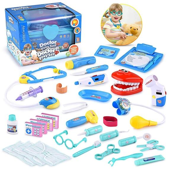 Daily Steals-Educational Toy Doctor Tool Bag - 34 Piece Set-Hobby and Toys-