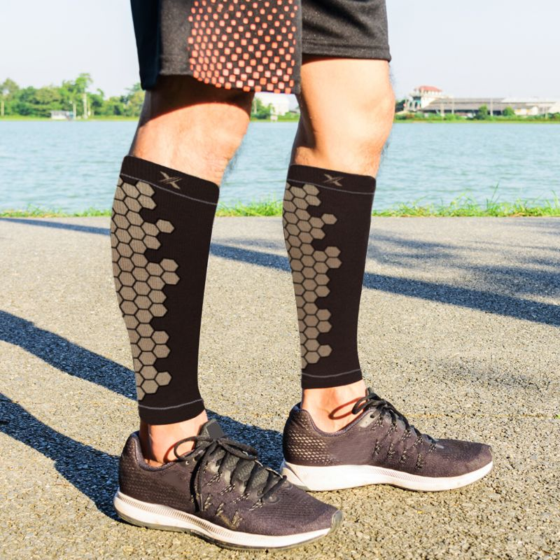 Copper Infused High Performance Compression and Support Calf Sleeves - 1 Pair