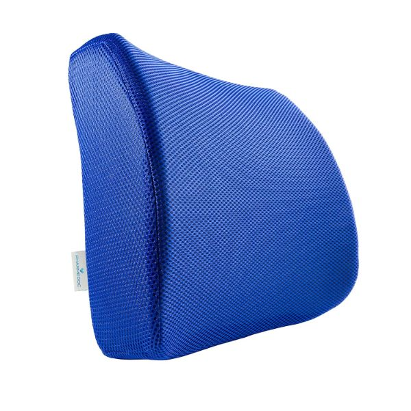 PharMeDoc Lumbar Support Pillow - Adjustable Memory Foam Seat Cushion-Blue-Daily Steals