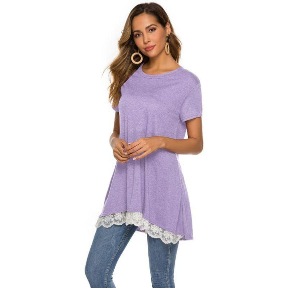Women's Long Lace Trim Top by Lilly Posh-Daily Steals