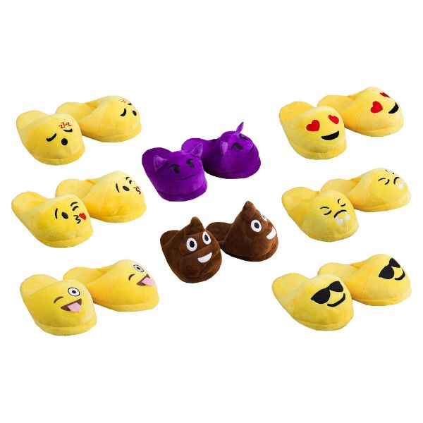 Emojeez Anti-Slip Soft Plush Emoji Characters Slippers-Daily Steals
