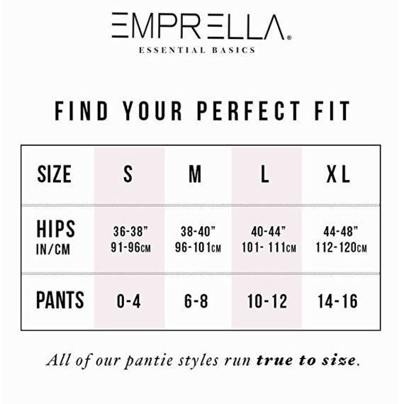 [10-Pack] Emprella Cotton No Show Panties-Daily Steals