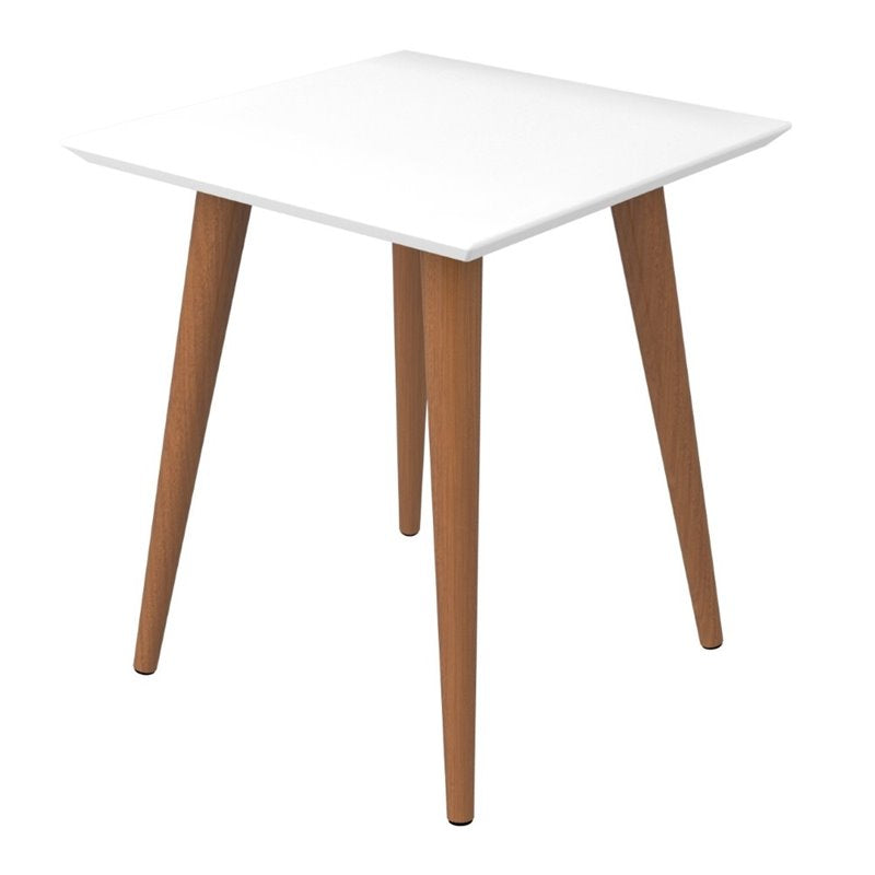 Utopia Table D'Extrémité Carrée-Brillant Blanc-Daily-Steals