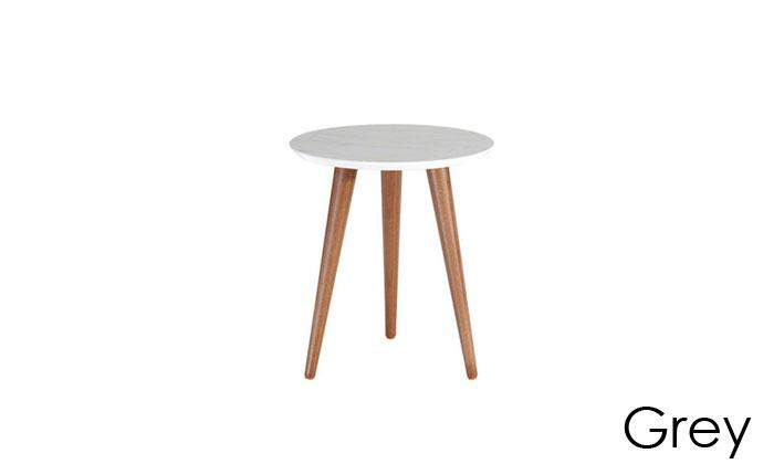 Manhattan Comfort Moore Modern End Table with Wood Legs-Grey-Daily Steals