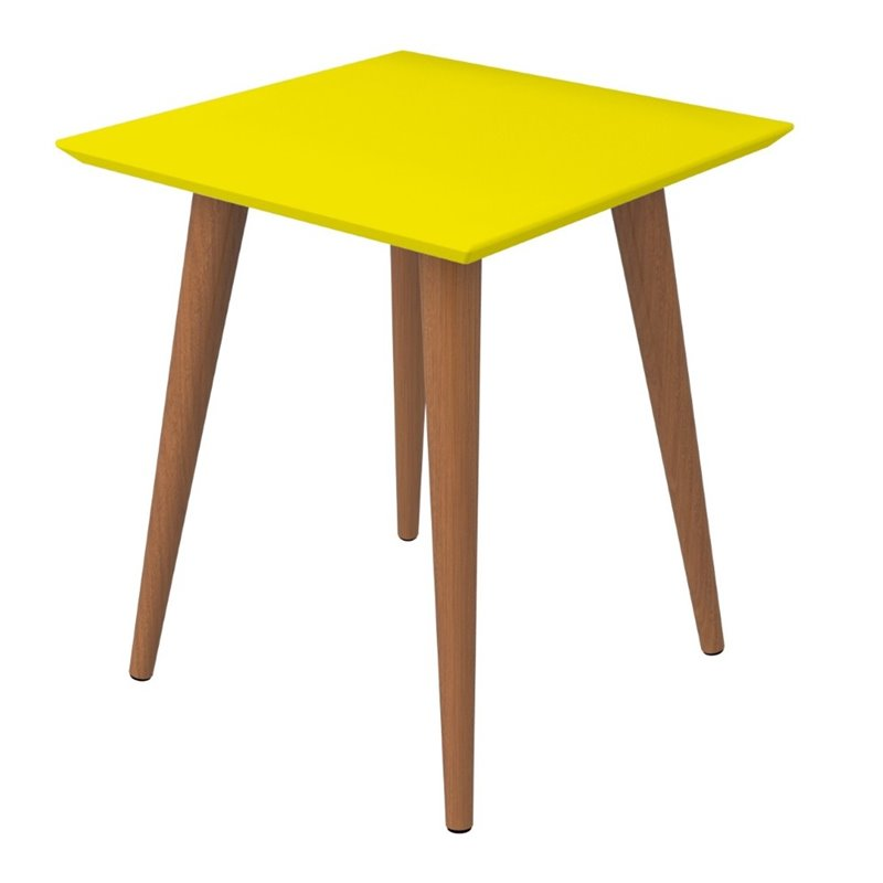Utopia Square End Table-Jaune-Daily Vole