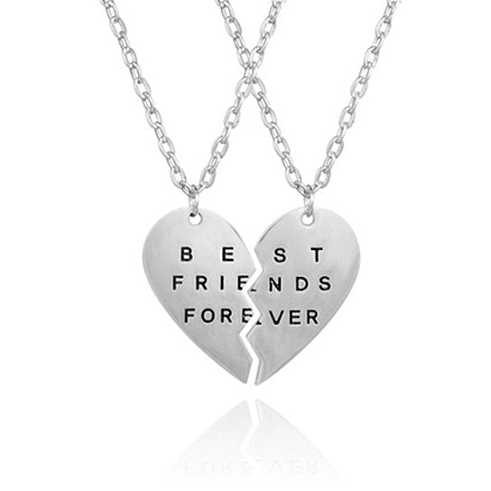 "Daily Steals-Jewelry Gift - 12 Styles-Jewelry-Engraved ""Best Friends Forever"" Sterling Silver Necklace-"