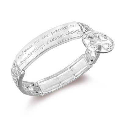 Serenity Prayer Engraved Bracelet - 3 Finishes-Silver-Daily Steals