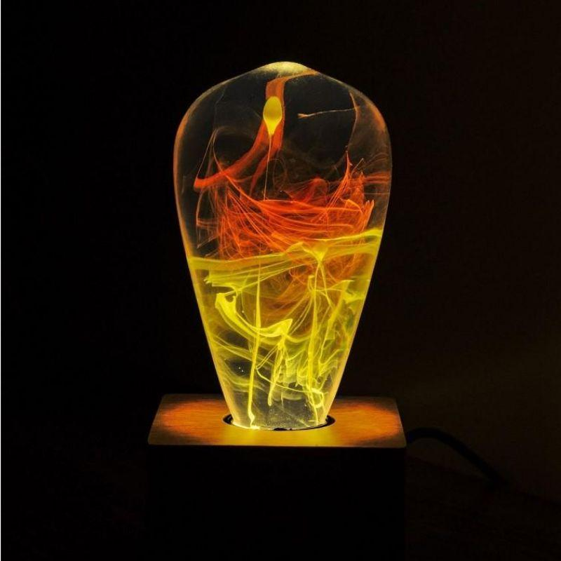 EP Light Solar Corona Yellow Orange Bulb Art Fixture Lamp with Optional Modern or Vintage Base Stand-Bulb-