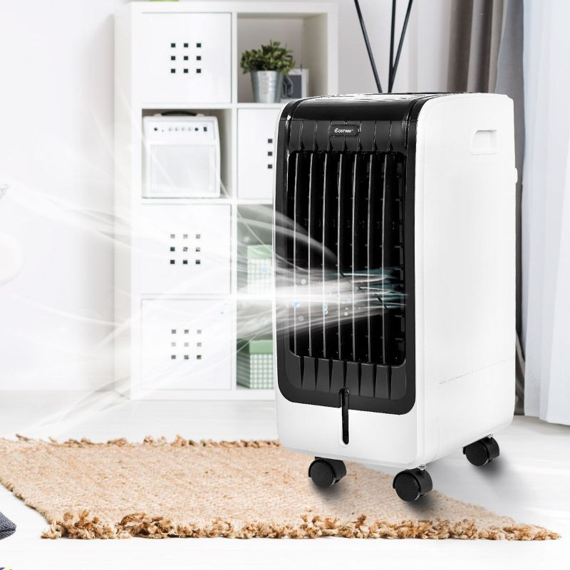 Portable Cooling Touch Pad Remote Evaporative Fan Conditioner-Daily Steals