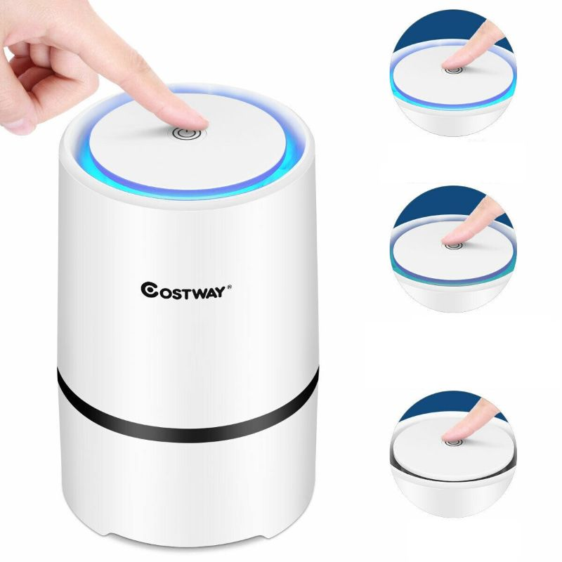 Mini Ionic 3-in-1 Composite HEPA Air Purifier-Daily Steals