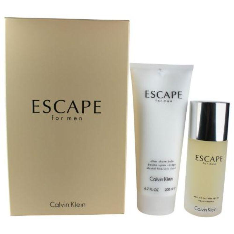 Escape 2 Piece Set For Men - 3.4oz Edt, 6.7oz After Shave Balm-Daily Steals