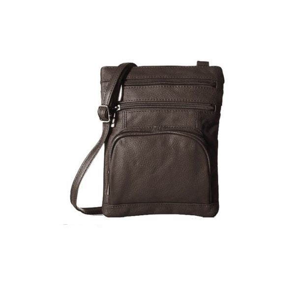 Super Soft Leather Crossbody Bag-Coffee-Daily Steals
