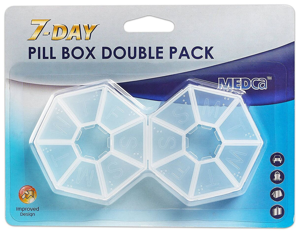 Daily Steals-MEdca 7 Day Pill 2 Pack Round Shape-Health and Beauty-