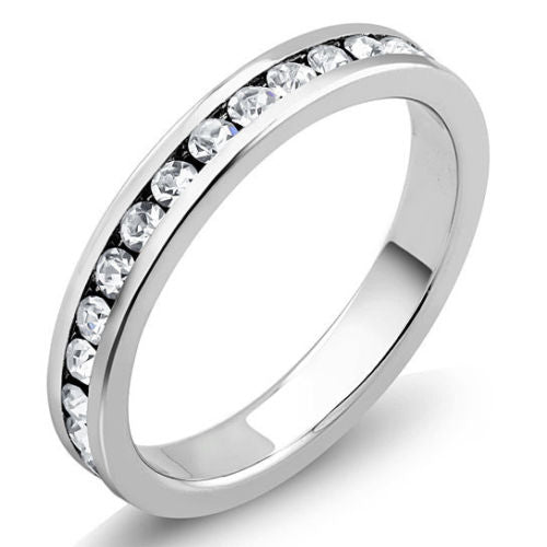 18K White Gold Plated and CZ Jewelry Set - Hoops, Studs, Tennis Bracelet, and Ring-Daily Steals