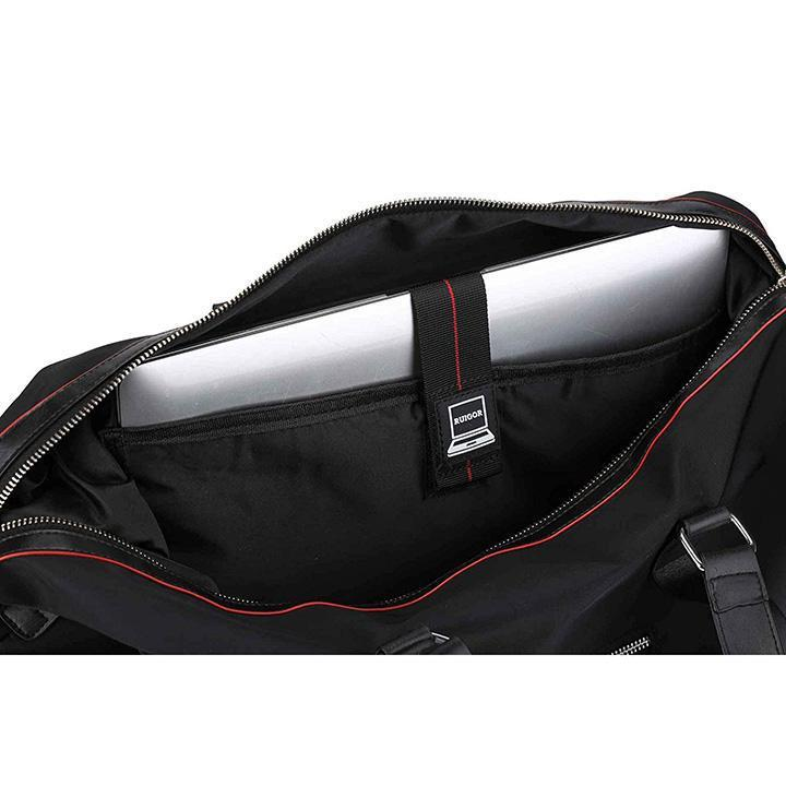 Daily Steals-Executive 10 by Swiss RUIGOR - Luxury Travel Bags with Multiple Compartments, Water Resistant - Black-Travel-