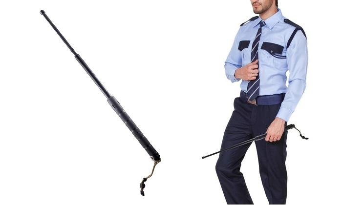 "Daily Steals-Expandable Self Defense 26"" Baton with Carrying Pouch & Glass Breaker-Other-"