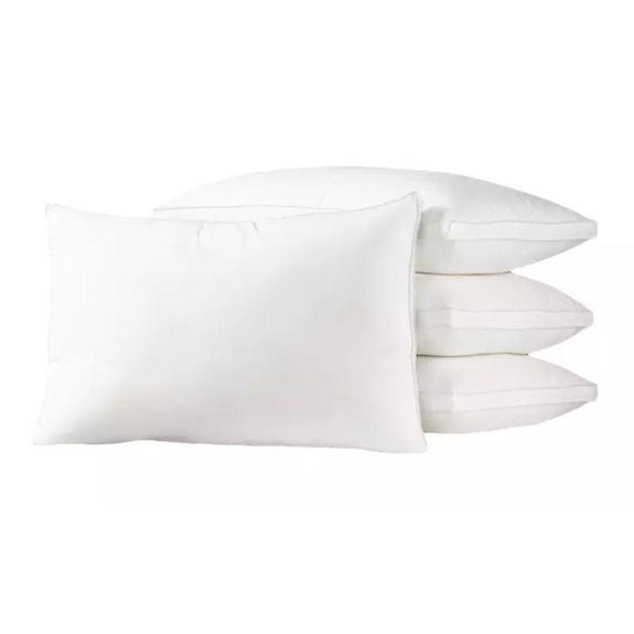 Exquisite Hotel Down Alternative Dust Mite and Allergen Resistant Pillows - 4 Pack-Standard-