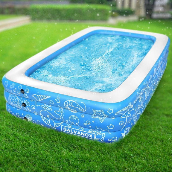 Extra Large Above Ground Family Sized Inflatable Pool 10 X 6 Ft
