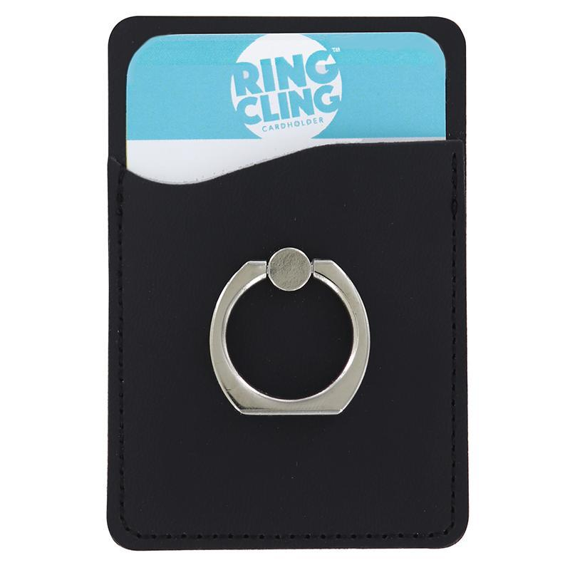 [2-Pack] Ring Cling Cardholder-Black-Daily Steals